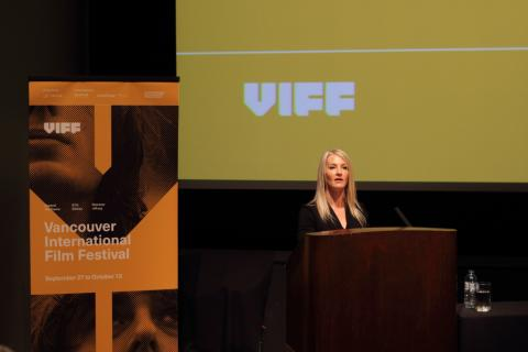 Jacqueline Dupuis, Executive Director, launches VIFF programme