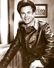 Bob Crane as easy-going Hogan, in POW sitcom Hogan's Heroes