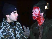 Eli Roth on Cabin Fever set
